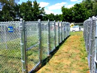 Chain Link Fence kennels built for Butler Animal Clinic by C&C