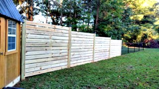 Horizontal Fence C&C Fencing 1